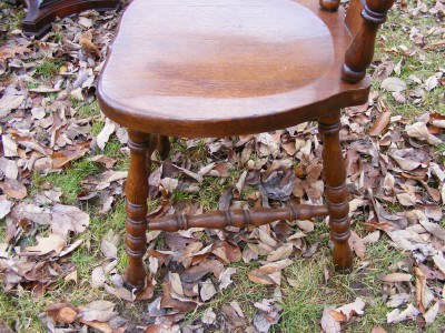 QUARTERSAWN OAK GLASS BALL CARVED LEG PARLOR TABLE