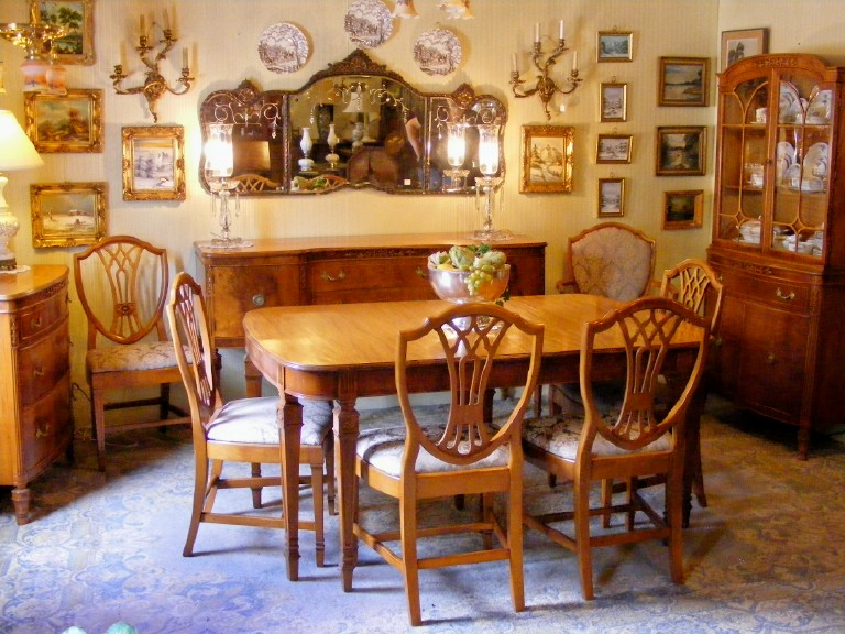 Antique 1930 S Satinwood Dining Room Suite Ebay